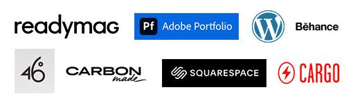 logos Principais sites para montar portfólio