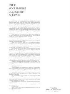 f_nazca_com_ou_sem_acucar Crise com açucar | F/Nazca